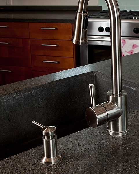 GeoMatrix fly ash and glass countertops